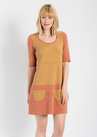 quirky quant minidress, golden coin dots, Kleider, Gelb