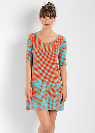 quirky quant minidress, red tube dots, Kleider, Rot