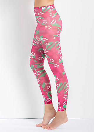 wild leggings, east side flowers, Strumpfhosen, Rot