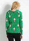 tafelsilber kasack, babushka broidery, Pullover, Grün