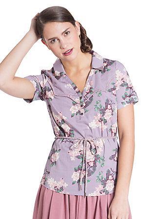 bee bobbele blouse, romantic roses, Lila