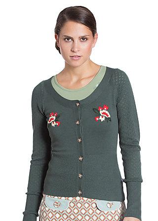 cosmopolitan tailor cardigan, salvia green, Grün