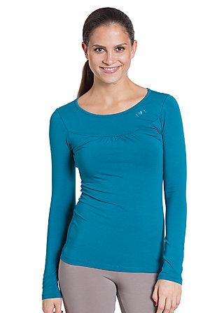 logo longsleeve u-shirt, power petrol, Blau