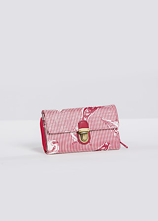 packwell purse, fly birdy stripe, Portemonnaies, Rot