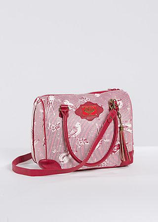 railway romance case, fly birdy stripe, Handtaschen, Rot