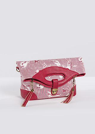 tea time bag, fly birdy stripe, Handtaschen, Rot