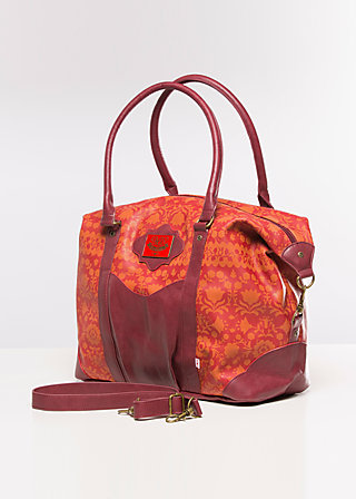 travel fever carpetbag, red autumn, Reisetaschen, Rot