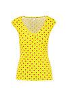 sommerliebe v-top, promenade walk, Shirts, Yellow
