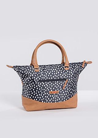 esterhazy ellbow bag, dark shadow dot, Handbags, Schwarz