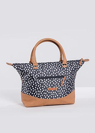 esterhazy ellbow bag, dark shadow dot, Handtaschen, Schwarz