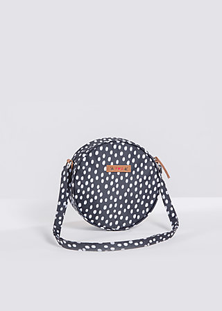 love is all around handbag, dark shadow dot, Handtaschen, Schwarz