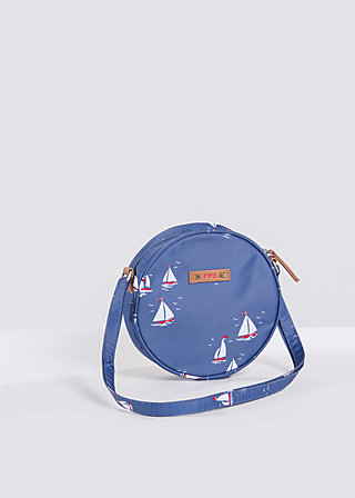 love is all around handbag, sail the sea, Handbags, Blau