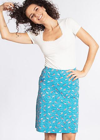big kahuna klippklapp skirt, flamingo bingo, Jerseyröcke, Blau