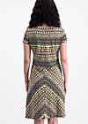 desert pleasures dress, caravan of savanna, Jerseykleider, Schwarz