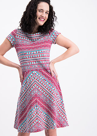 desert pleasures dress, caravan of hot temper, Jerseykleider, Rot