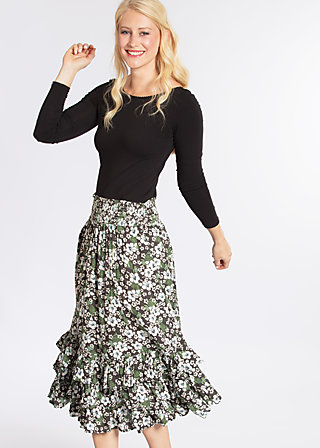 fiesta mexicana skirt, hula hibiscus, Webröcke, Grau