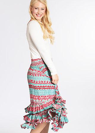 fiesta mexicana skirt, woven virgin, Webröcke, Türkis