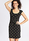 hooponopono peace dress, cute cactus, Jerseykleider, Schwarz