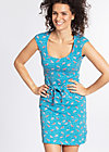 hooponopono peace dress, flamingo bingo, Jerseykleider, Blau