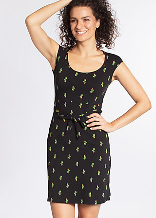 hooponopono peace dress, cute cactus, Jerseykleider, Schwarz