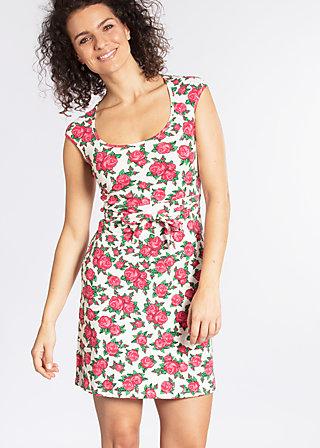 hooponopono peace dress, holy rose, Jersey Dresses, Weiß