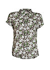 magnum and me blouse, hula hibiscus, Blusen, Grau