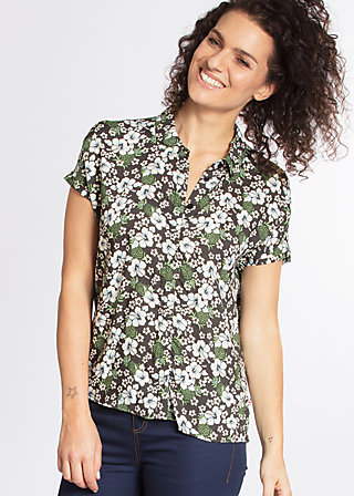 magnum and me blouse, hula hibiscus, Blouses, Grau