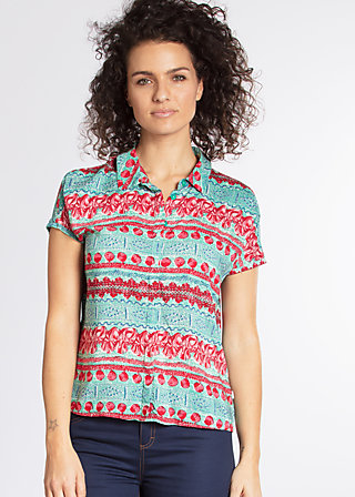 magnum and me blouse, woven virgin, Blouses, Türkis