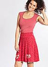 maka shaka skirt, mediterrain melange, Röcke, Rot