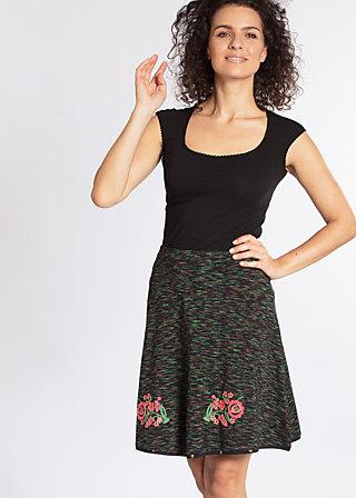 maka shaka skirt, mexico melange, Jerseyröcke, Schwarz