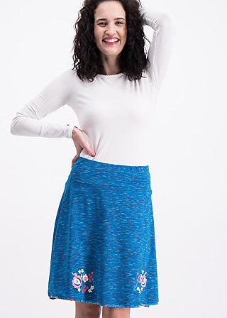 maka shaka skirt, mokulele melange, Jerseyröcke, Blau