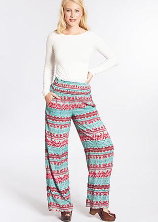 maui flatter pants, woven virgin, Stoffhosen, Türkis