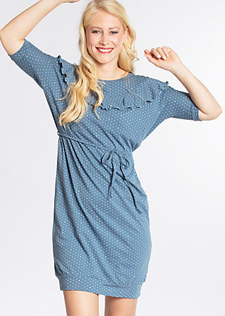 molokai leisure dress, sea of dots, Kleider, Blau