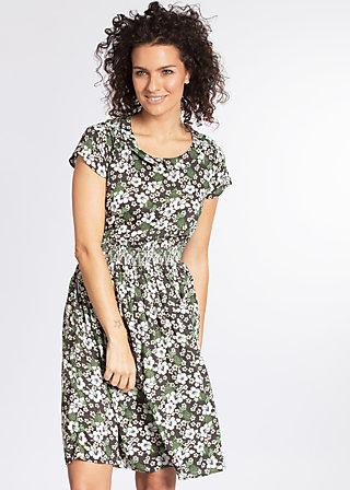 senhorita frida folk dress, hula hibiscus, Webkleider, Grau