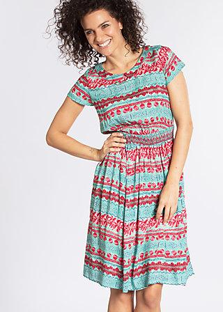 senhorita frida folk dress, woven virgin, Woven Dresses, Türkis
