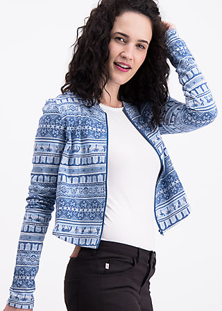 siesta socialclub jacket, caravan of oasis, Zipperjacken, Blau