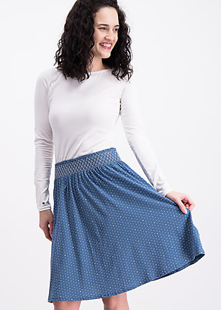 waikiki moon skirt , sea of dots, Jerseyröcke, Blau