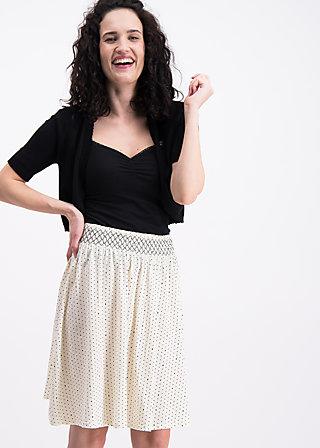 waikiki moon skirt , wasteland dots, Jerseyröcke, Weiß
