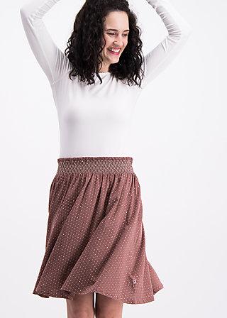 waikiki moon skirt , woodland dots, Jerseyröcke, Braun