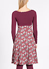 go visit granny dress, petite pot floree, Jerseykleider, Rot