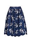 heavens bells skirt, unwritten story 2, Woven Skirts, Blau