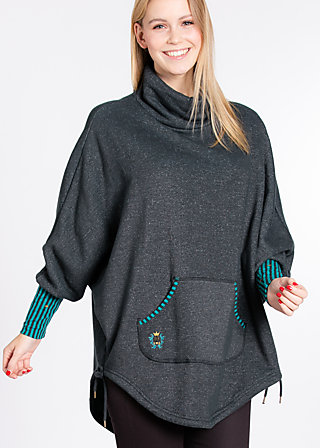 little red riding cape , dusky forest, Pullover, Schwarz
