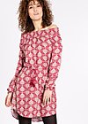 lovely fawn of mine dress , winter wisdom, Webkleider, Rot