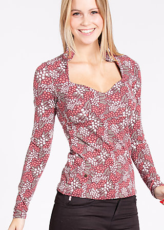miraculous power shirt, petite pot floree, Langarm, Rot