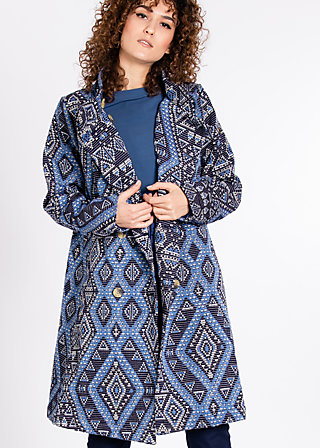zauberzigzag coat , carpet of castle, Jacken, Blau