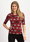 Jersey Top asian fusion, the black sheep, Shirts, Red
