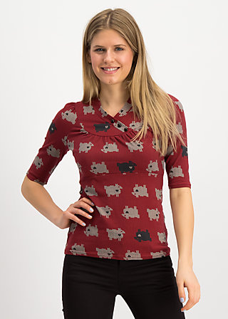 asian fusion shirt, the black sheep, Shirts, Red