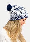 Mütze baltic bommel, norwegian snowflake, Accessoires, Weiß