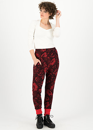 belle de palazzo pants, hidden garden flowers, Trousers, Red