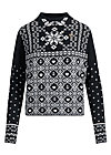 Knitted Jumper cosy and cool, norwegian stellar, Cardigans & lightweight Jackets, Black